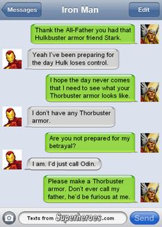 And that is the real reason he made the Thorbuster armour