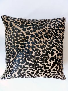 """As always, we say that great steak comes from beautiful cows! This pillow is 20"""" x 20"""" and backed in a heavy grade suede to resist slipping if placed on a leather sofa. There is 2 available, and we can custom do these in additional sizes or additional prints. The stuffer is 95% feather 5% down"""