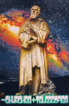 "Saatchi Art Artist Alberto Silva; Painting, ""Less churches more telescopes! Tribute to Galileo Galilei. Blue version. 3 of 5."" #art"