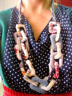 Chunky Fabric Chain! *With Tute!* - JEWELRY AND TRINKETS