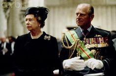 Royalement Blog: Queen Elizabeth II and the Duke of Edinburgh in 1993 at the funeral of King Baudouin of Belgium