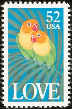 Fischer's Lovebird stamps - mainly images - gallery format