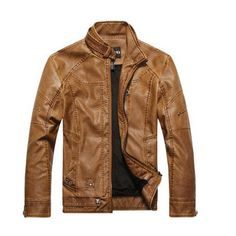 2017 Motorcycle Leather Jackets Men Autumn Winter #Affiliate