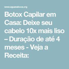 Botox Capilar em Casa: Deixe seu cabelo 10x mais liso – Duração de até 4 meses - Veja a Receita: