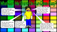 Room 7 @ Paihia School: Info graphics of what we can share on our class blog.