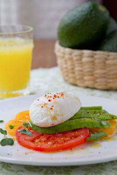 Avocado, Tomato and  Poached Egg Salad http://www.acommunaltable.com/avocado-tomato-and-poached-egg-salad/