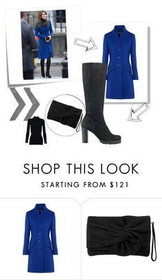 """Kate Middleton Bleu Coat"" by kiedisme on Polyvore featuring мода, Post-It, Boutique Moschino, Karen Millen и Alaïa"