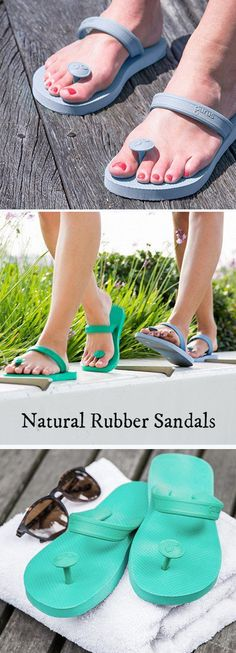 These natural rubber sandals are steps beyond your average flip-flops. They're eco-friendly, comfy, and don't make that flapping noise when you walk.