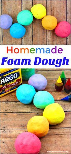 How to Make The Best Shaving Cream Play dough Recipe – Easy Foam Dough