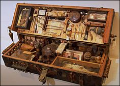 Safari Steampunk Anyone? Steampunk is a rapidly growing subculture of science fiction and fashion. Larp, Steampunk Accessoires, Steampunk Diy, Cabinet Of Curiosities, Assemblage Art, Box Art, Shadow Box, Altered Art, Altered Boxes