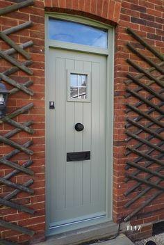 Oak Cottage Doors Framed Ledged Oak or Painted Hardwood Hardwood Front Doors, Oak Front Door, Modern Front Door, Wooden Front Doors, Painted Front Doors, Cottage Front Doors, Brick Cottage, Cottage Door, Cottage Exterior Colors