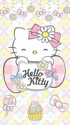Image in Hello kitty collection by ป่านแก้ว on We Heart It Hello Kitty Art, Hello Kitty My Melody, Hello Kitty Themes, Hello Kitty Pictures, Hello Kitty Birthday, Sanrio Wallpaper, Hello Kitty Wallpaper, Kawaii Wallpaper, Little Twin Stars