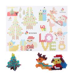 Bead Crafts, Diy And Crafts, Crafts For Kids, Peyote Stitch Patterns, Beading Patterns, Pixel Art, Diy Perler Beads, Bead Kits, Hexagon Quilt