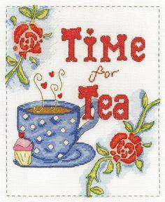 DMC Time for Tea cross stitch kit