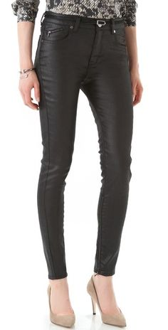 Special Offers Available Click Image Above: Victoria Beckham High Waist Zip Skinny Jeans Victoria Beckham Jeans, Skinny Fit, Skinny Jeans, Spray On Jeans, White Tank, Leggings Are Not Pants, Leather Pants, Black Jeans, My Style