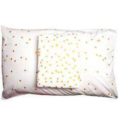 Tea Pea - Feliz Sprinkle Sprinkle Pillowslip - Gold