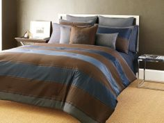 Sean John Saville Row Comforter Set, King by Sean John. $199.95. Comforter measures 94 by 108-Inch, Sham measures 20 by 36-Inch. Machine Wash. 100% Polyester. Set Includes Comforter and 2 King Shams. Sean John Saville Row collection features a beautiful cotton sateen sheet set and a jacquard satin ribbed stripe comforter. Complete the ensemble with European Shams and Decorative Pillows.