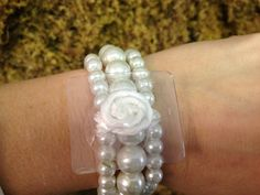 White Pearl Wristlet