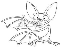 Outlined bat photo