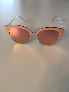 Vintage Cat Eye Rose Gold Pink Mirrored Sunglasses by ThriftedGal