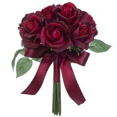 Dark Red Wedding, Burgundy Wedding Flowers, Burgundy Bouquet, Red Rose Bouquet, Dream Wedding, Winter Bridal Bouquets, Small Wedding Bouquets, Red Bouquet Wedding, Bridesmaid Bouquet