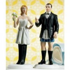 Who Wears the Pants? Wedding Cake Toppers