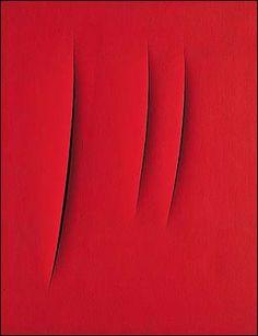 Art sales: London still cuts a dash Lucio Fontana Italian Painters, Italian Artist, Contemporary Abstract Art, Modern Art, Up Book, Art Abstrait, Shades Of Red, American Artists, Art For Sale