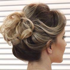 Curly Bun For Short Hair