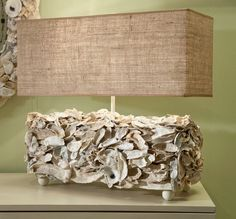 Oyster Box Lamp with Shade Lighting - Lowcountry Originals