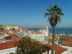 Alfama District - Tagus River view from our apartment in the #Alfama District, #Lisbon.