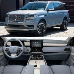 Lincoln Navigator 2018 Ford& luxury brand exhibited at the New York International . Best Luxury Cars, Luxury Suv, Lincoln Suv, Carros Suv, 7 Seater Suv, Cruise Control, Suv Comparison, Lexus Gx, Best Suv