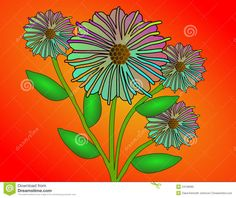 Gradient Fantasy Flowers Royalty Free Stock Photo - Image: 24128065