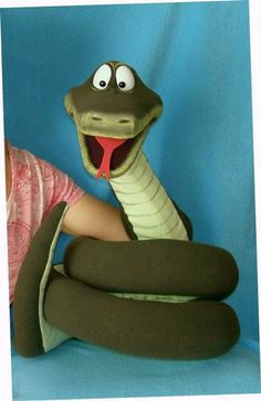 Snake puppet, Puppet for sale.
