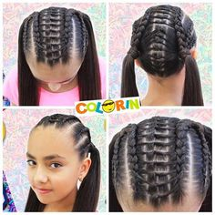 Imagen relacionada Swag Hairstyles, Girly Hairstyles, Little Girl Hairstyles, Braided Hairstyles, Hair Inspo, Hair Inspiration, Indie, African Dress, Hair Goals