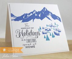 Create With Me: A clean and simple Christmas card using Alpine Christmas stamps from Waltzingmouse.