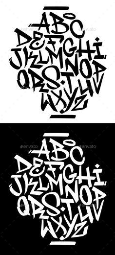 Buy Handwritten Graffiti Font Alphabet by on GraphicRiver. Chisel tip handwritten graffiti font alphabet. Graffiti Text, Wie Zeichnet Man Graffiti, Alphabet Poster, Graffiti Lettering Alphabet, Tattoo Fonts Alphabet, Reverse Graffiti, Banksy Graffiti, Graffiti Tattoo, Graffiti Writing