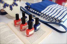 spring, cobalt stripes, scotch polish, coral, cobalt, stars, spring, style, fashion, merchandising, displays, inside blush, blush boutique,
