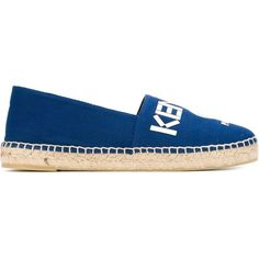 Kenzo Kenzo Paris Espadrilles ($157) ❤ liked on Polyvore featuring shoes, sandals, blue, kenzo, braided sandals, blue shoes, woven shoes and woven flat shoes