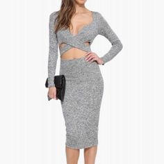 X Cut Out Midi Dress Brand new. Never worn. Medium and Large avail. Dresses Midi