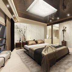 Elegant Bedroom Lighting Interior DesignBedroom