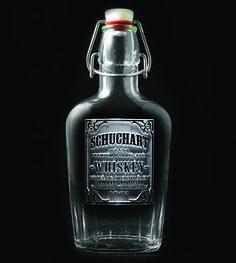 Custom Name Whiskey Label Glass Flask