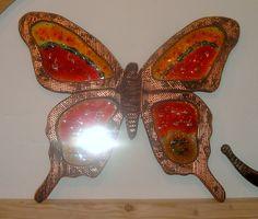 Χειροποίητη δημιουργία μου σε ξύλο-γυαλί φιούζινκ-υπάρχει δυνατότητα διαφοροποιήσεων. Moth, Insects