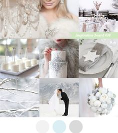 White silver wedding