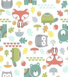 The Land Of Whimzie Cotton Fabric-Woodsie Pal Allover
