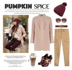 """""""Pumpkin Spice"""" by conch-lady ❤ liked on Polyvore featuring Dorothy Perkins, Miss Selfridge, Polo Ralph Lauren, Salvatore Ferragamo, Gucci and VERONA"""