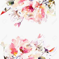 watercolour floral backgrounds - Google Search