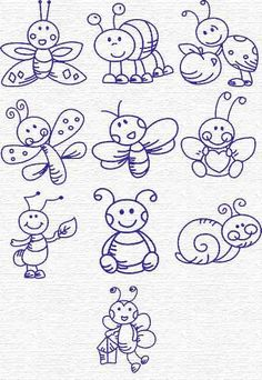 Free Embroidery Designs, Sweet Embroidery, Designs Index Page (Inspiration to Draw) Embroidery Designs, Hand Embroidery, Machine Embroidery, Embroidery Tattoo, Doodle Drawings, Doodle Art, Doodle Lettering, Doodles Zentangles, Art Plastique