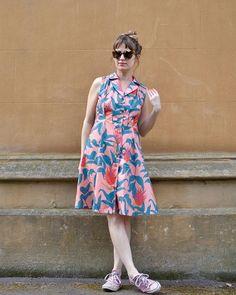 Vintage Shirt Dress Dress Sewing, Pantone, Frocks, Sewing Patterns, Coral, Shirt Dress, Detail, Vintage, Shopping