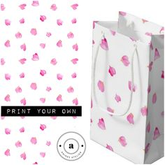 Make your own giftbag with the romantic pattern from Anines Atelier. Web Design, Logo Design, Romantic Roses, Surface Pattern Design, Watercolor And Ink, Rose Petals, Passive Income, Banner Design, Gift Bags