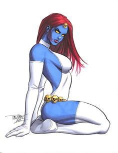 Mystique (by Scott Dalrymple) Marvel Dc Comics, Anime Comics, Comic Anime, Archie Comics, Marvel Heroes, Comic Book Characters, Comic Character, Comic Books Art, Comic Art